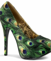 Vintage pumps pauwenprint