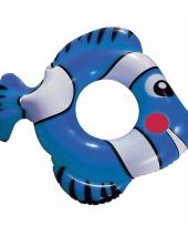 Vis zwemring blauw 79 cm