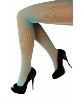 Visnetpanty turquoise voor dames