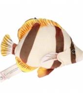 Vissen knuffel wit bruin 21 cm
