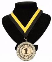 Vitesse kleuren lint nr 1 medaille geel zwart