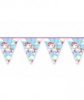 Vlaggenlijn eenhoorn voor kinder feestje
