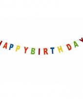 Vlaggenlijnen happy birthday kleuren