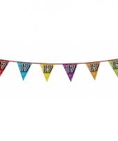 Vlaggetjes 17 jaar feestje