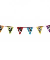 Vlaggetjes 9 jaar feestje