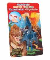 Vliegende dino speelgoed poppetje pterosauri rs blauw