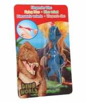 Vliegende dino speelgoedpoppetje t rex blauw