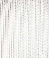 Vliegengordijn deurgordijn grijs transparant 93 x 220 cm