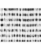 Vliegenwerend kralen gordijn zwart 90 x 220 cm