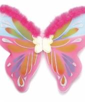 Vlinder vleugels met roze bont