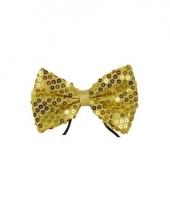 Vlinderstrik met gouden pailletten