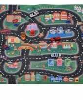 Vloerkleed met race circuit 70 x 80 cm