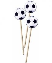 Voetbal cocktailprikkers 20 cm