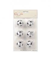 Voetbal kerstballen 6 stuks 10068196