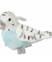 Vogel knuffels grasparkiet 16 cm