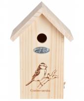Vogelhuisje van hout 17x26 cm