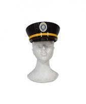 Volwassenen politiepet zwart plastic