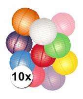 Voordeelset diverse kleuren lampionnen 10051848