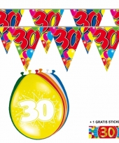 Voordeelverpakking 30 jaar met 2 slingers en ballonnen