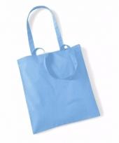 Voordelig blauwe katoenen draagtasje 10 liter 10089197