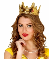 Voordelig gouden prinsessen kroontje voor vrouwen