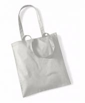 Voordelig grijze katoenen draagtasje 10 liter 10089198