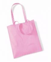 Voordelig roze katoenen draagtasje 10 liter 10089199