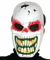 Voordelig skeletten masker met enge grijns