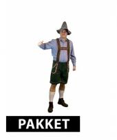 Voordelig tiroler kostuum met accessoires heren maat l