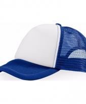 Voordelige baseballcap blauw wit