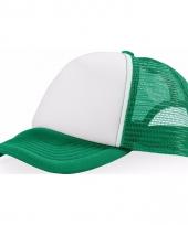 Voordelige baseballcap groen wit