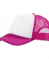 Voordelige baseballcap roze wit
