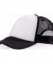 Voordelige baseballcap zwart wit