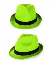 Voordelige groene gangster gleufhoedjes