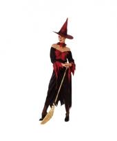 Voordelige heksenjurk zwart met rood