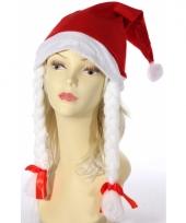 Voordelige kerstmuts met vlechten