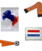 Voordelige oranje supporters pakket