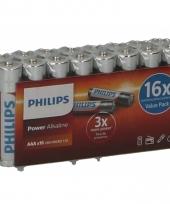 Voordelige philips aaa batterijen 16 stuks