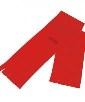 Voordelige polar fleece sjaaltje rood voor kinderen