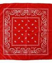 Voordelige rode boeren zakdoek 53 x 53 cm