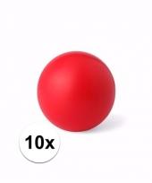 Voordelige rode weggeef artikelen stressballetjes 10 stuks