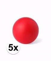 Voordelige rode weggeef artikelen stressballetjes 5 stuks