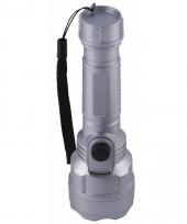Voordelige zaklamp grijs 15 5 cm