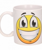 Vrolijke smiley mok beker 300 ml