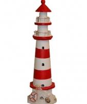 Vuurtorens rood met wit 41 cm