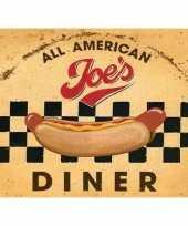 Wandplaat american diner