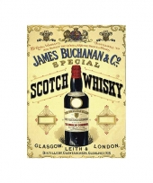 Wandplaat james buchanan whisky