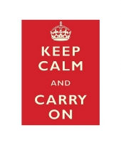 Wandplaat keep calm and carry on