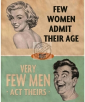 Wandplaatje admitting age