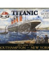 Wandplaatje titanic queen of the ocean